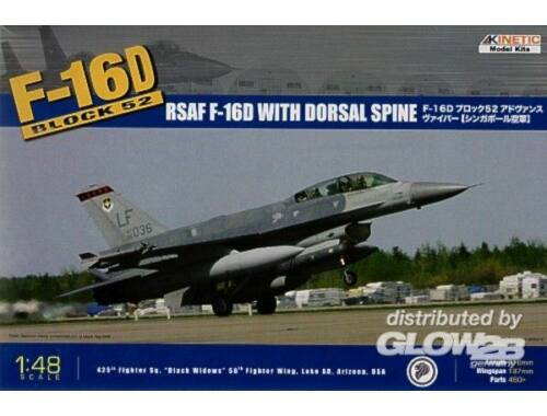 Kinetic F-16D Block 52 RSAF w/Dorsal Spine 1:48 (48007)