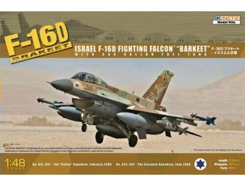 Kinetic F-16D Israel Fighting Falcon Barkeet 1:48 (48009)