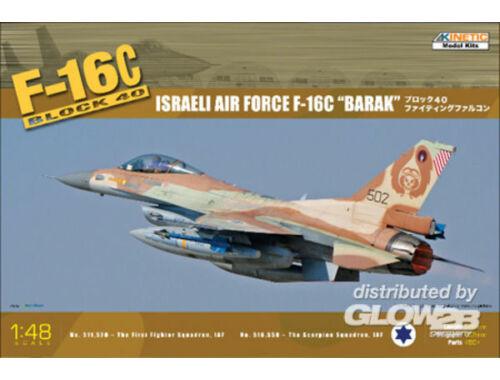 Kinetic F-16C Block 40 Israel Air Force Barak 1:48 (48012)