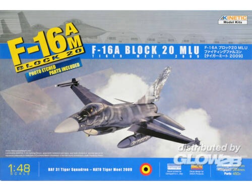 Kinetic F-16A Tiget Meet 2009 (W/PE) 1:48 (48036)