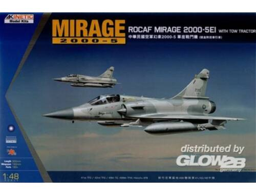 Kinetic Mirage 2000C ROCAF W/Tractor 1:48 (48045)