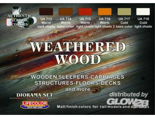Life Color Weathered wood color set /6 (CS20)
