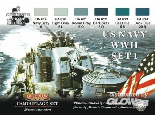 Life Color Camouflage Set US Navy WWII Set 1 (CS24)