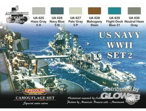 Life Color Camouflage Set US Navy WWII Set 2 (CS25)