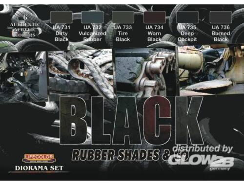 Life Color Black rubber shades   co. (CS27)