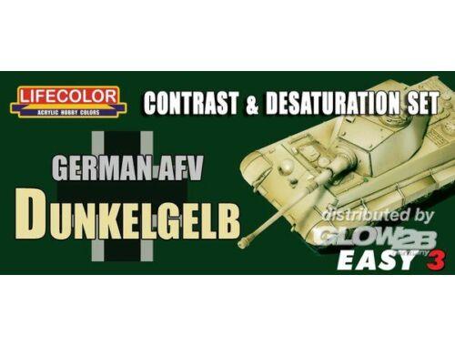 Lifecolor Paint Set Germ.AFV Dunkelgelb Contr. Desaturat. (MS01)