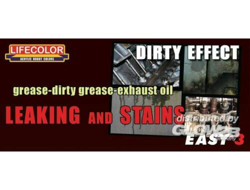 Lifecolor Paint Set Grease-dirty grease-exhaust oil set (MS05)