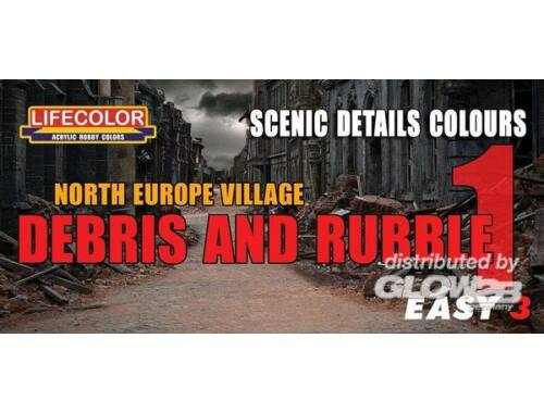 Lifecolor Paint Set North Europe Village Debris and Rubble 1 (MS07)