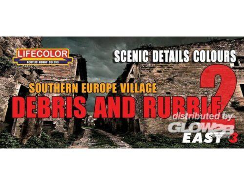 Lifecolor Paint Set Southern Europe Village Debris Rubble 2 (MS08)