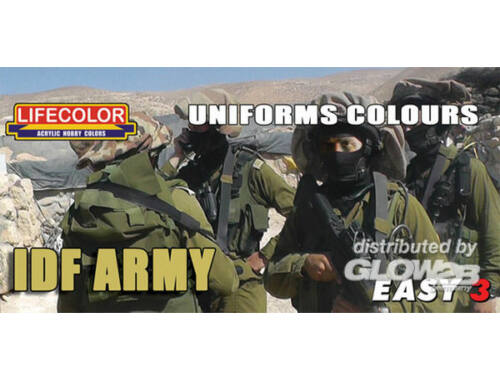 Lifecolor Paint Set Uniforms colours IDF Army (MS10)