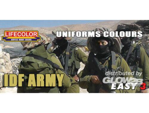 Lifecolor Paint Set Uniforms colours IDF Army (MS10)