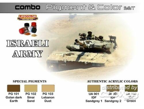 Lifecolor Pigment Color Set Israeli Army (SPG01)
