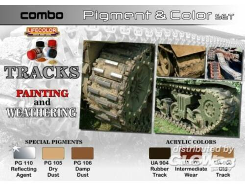 Lifecolor Pigment Color Set Tracks Painting Weathering (SPG02)