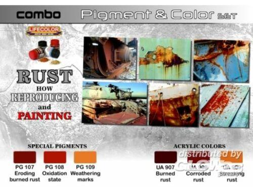Lifecolor Pigment Color Set Rust How reproducing paint (SPG03)