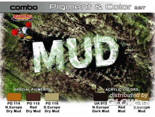 Lifecolor Paint Set SET COMBO effects of MUD (SPG05)