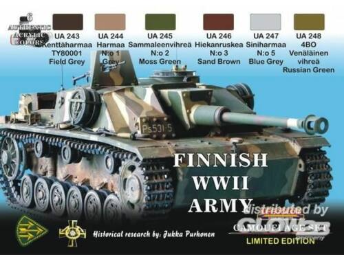 Life Color Finnish WWII tanks (XS08)