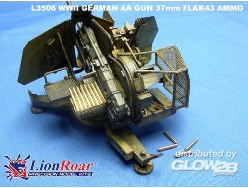 Lion Roar Ammo   Cartridge case for 37mm Flak 43 1:35 (L3506)