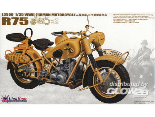 Lion Roar WWII German BMW R75 (2 motorcycles) 1:35 (L3509)