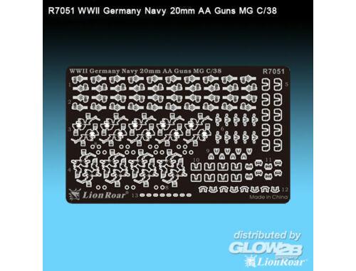 Lion Roar WWII Ger.Navy20mm AA GunFlak35(4*MG C/38 1:700 (R7051)