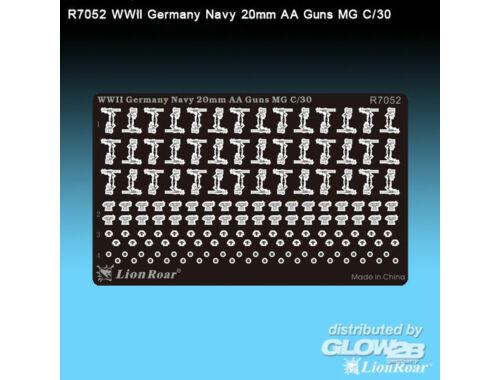 Lion Roar WWII German Navy 20mm AA Gun Flak 30 1:700 (R7052)