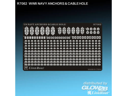 Lion Roar WWII US Navy Anchors   Cable Hole 1:700 (R7062)