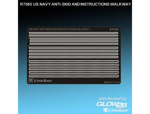 Lion Roar WWII US Navy Antiskid Plate I 1:700 (R7065)