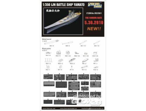 Lion Roar WWII IJN Battleship Yamato for Tamiya 1:350 (RS3501)