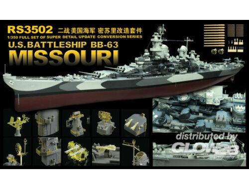 Lion Roar WWII US Navy Battleship BB-63 Missouri 1:350 (RS3502)