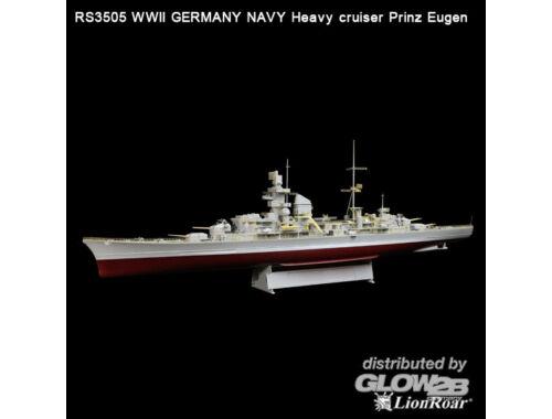 Lion Roar WWII Ger.Navy Heavy Crui. Pr.Eugen (TRU) 1:350 (RS3505)