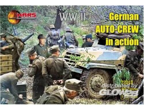 Mars WWII German auto-crew in action 1:72 (72013)
