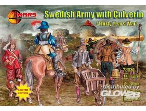Mars Swedish Army with culverin, 30 years war 1:72 (72031)