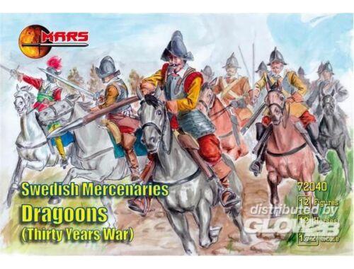 Mars Swedish Mercenaries Dragoons, 30 Y. War 1:72 (72040)
