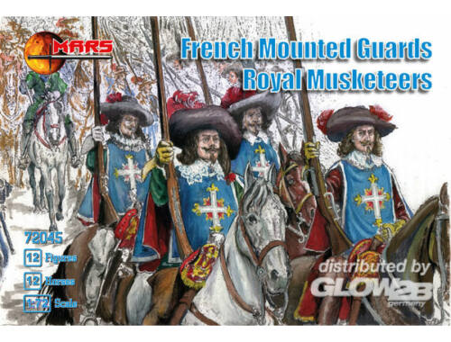 Mars French mounted guards, Royal Musketeers 1:72 (72045)