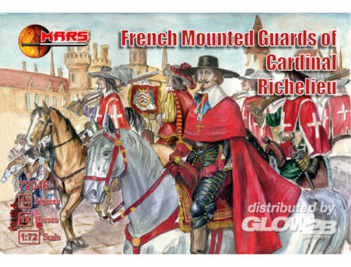Mars French mounted guards of Card. Richelieu 1:72 (72046)