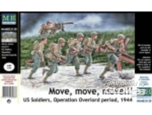Master Box U.S. soldiers,Operation Overlord peri944 1:35 (35130)