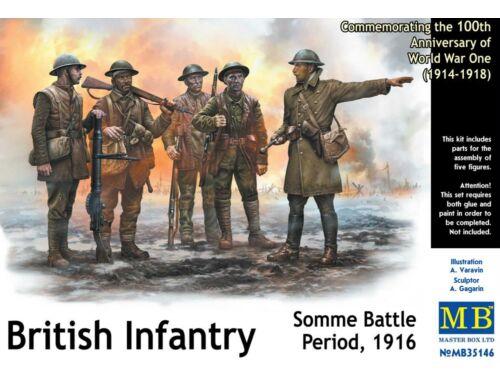 Master Box British infantry, Somme battle, 1916 1:35 (35146)