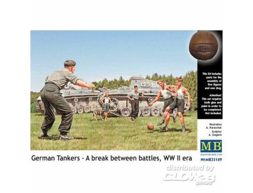Master Box German tankmen in the break bet. Combats 1:35 (35149)