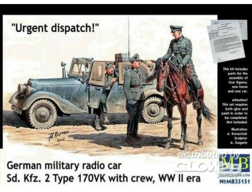 Master Box Urgent dispatch. Sd.Kfz.2 T. 170 w. crew 1:35 (35151)