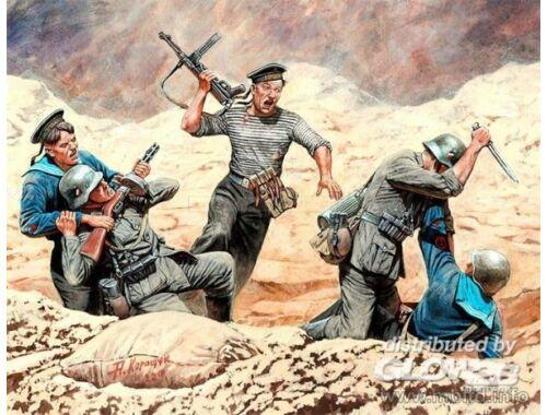 Master Box Soviet marines and German infantry,Handt 1:35 (35152)