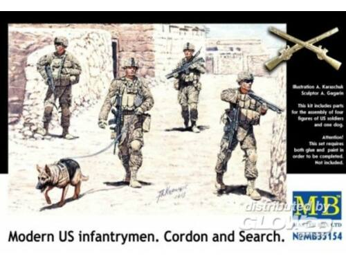Master Box Modern U.S.infantrymen. Cordon and Searc 1:35 (35154)