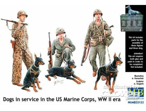 Master Box Dogs in service in US Marine Corps 1:35 (35155)
