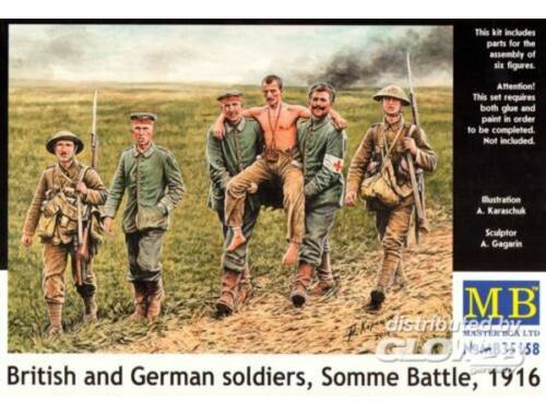 Master Box British and German soldiers,Somme Battle 1:35 (35158)