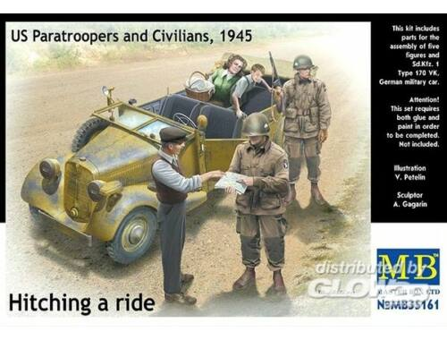 Master Box Hitching a ride US Paratroopers a.Civili 1:35 (35161)
