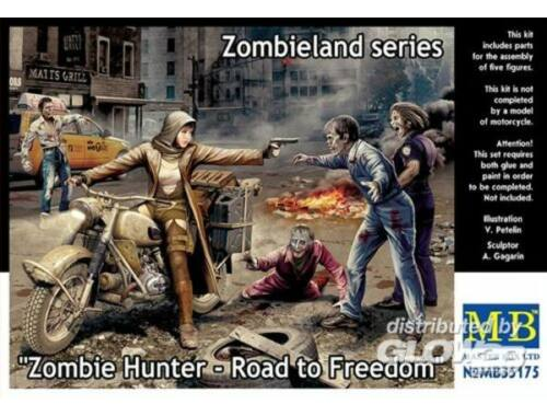 Master Box Zombie Hunter-Road to Freedom.Zombieland 1:35 (35175)