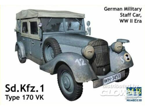Master Box Sd.Kfz.1 Type 170 VK, German staff car 1:35 (3530)