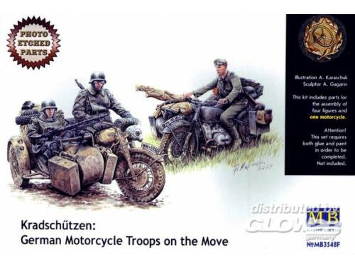 Master Box Kradschutzen: Ger. motorcycle troops 1:35 (3548F)