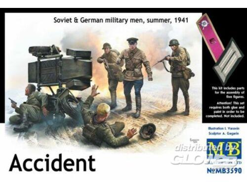 Master Box Accident. Soviet   German military men, 1:32 (3590)