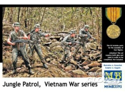 Master Box Jungle patrol, Vietnam War series 1:35 (3595)