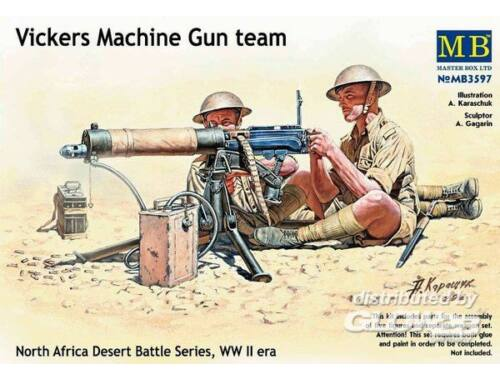 Master Box Vickers machine-gun crew, Desert battle 1:35 (3597)