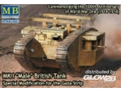 Master Box MK I Male British tank,Special modificat 1:72 (72003)